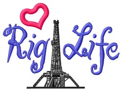 Rig Life embroidery design