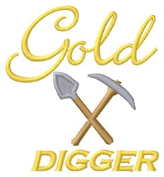 Gold Digger embroidery design