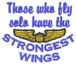 Strongest Wings embroidery design