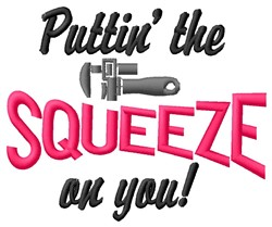 Squeeze On embroidery design