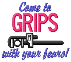 Grip Fears embroidery design