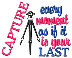 Capture Moment embroidery design
