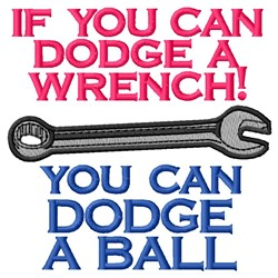 Dodge A Wrench embroidery design