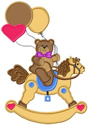 Rocking Teddy embroidery design
