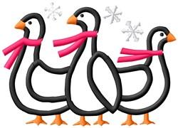 Winter Ducks embroidery design