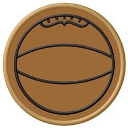 Basketball Applique embroidery design