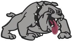 Bulldog Mascot Applique embroidery design