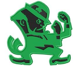 Irishman Mascot Applique embroidery design