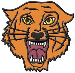Tiger Mascot Applique embroidery design