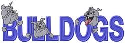 Bulldogs Mascot Applique embroidery design