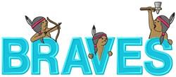Braves Mascot Applique embroidery design