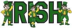 Irish Mascot Applique embroidery design