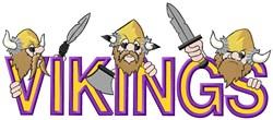 Vikings Mascot Applique embroidery design