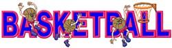 Basketball Logo Applique embroidery design