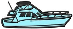 Cruisin Boat Applique embroidery design