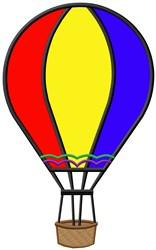 Hot Air Balloon Applique embroidery design