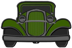 Old Car Applique embroidery design