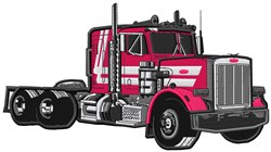 Semi Truck Applique embroidery design
