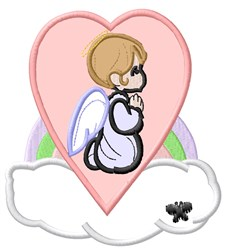 Praying Angel  Applique embroidery design
