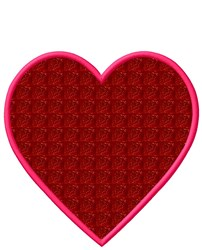 Heart Shape Applique embroidery design