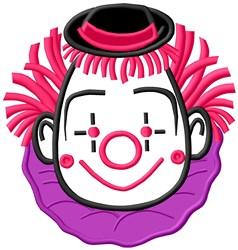 Clown Face Applique embroidery design