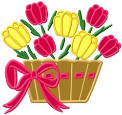 Flower Basket Applique embroidery design