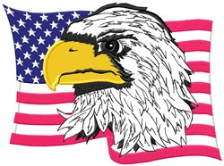 American Flag Eagle Applique embroidery design