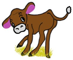 Cow Calf embroidery design