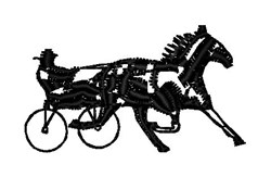 Horse & Buggy embroidery design