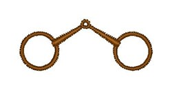 Loose Ring Snaffle embroidery design