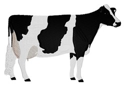Black and White Cow embroidery design