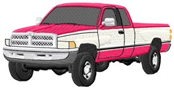 Pickup Truck embroidery design