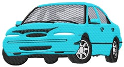 Blue Car embroidery design