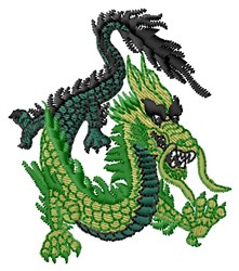 Green Dragon embroidery design