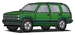 SUV Car embroidery design