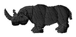 Rhino Silhouette embroidery design