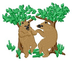 Two Bears embroidery design