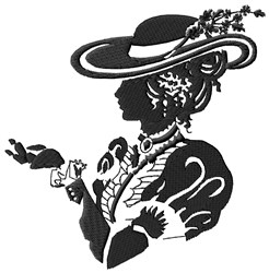 Vintage Lady embroidery design