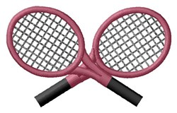 Crossed Racquets embroidery design
