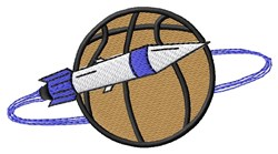 Rocket Basketball embroidery design