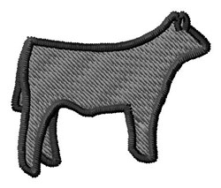 Steer Silhouette embroidery design