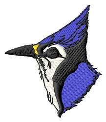 Bluejay Head embroidery design