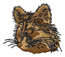 Racoon Head embroidery design