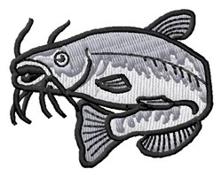 Catfish embroidery design