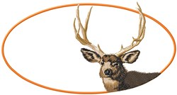 Deer Head embroidery design