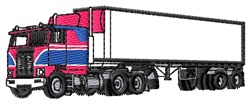 18-Wheeler embroidery design