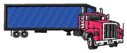 Tractor Trailer embroidery design