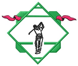 Golf Logo embroidery design