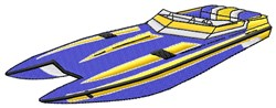 Speed Boat embroidery design