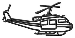 Helicopter Outline embroidery design
